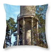 Water Tower In Malmi Cemetery Throw Pillow