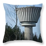 Water Tower Of Lohja  Station Throw Pillow