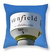 Water Tower - Sunfield Texas  Throw Pillow