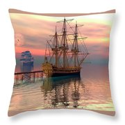 Water Traffic Throw Pillow