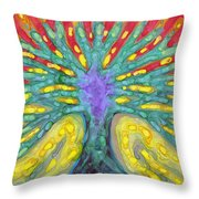 Water Tree Throw Pillow