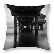 Water Under The Dock Throw Pillow
