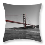 Water Underneath The Bridge-black And White Throw Pillow