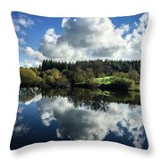 Water Vapour On A Mirror Throw Pillow