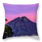 Water Volcano, Guatemala Throw Pillow