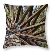 Water Wheel In The Fall Throw Pillow