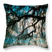 Water Willow Throw Pillow