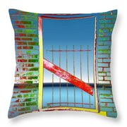 Water Window 2 Throw Pillow