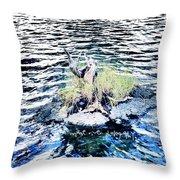Water Woodwork Throw Pillow