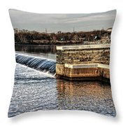 Water Works Gazebo Throw Pillow