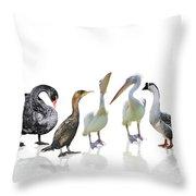 Waterbirds Throw Pillow