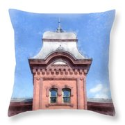 Waterbury Vermont Train Station Throw Pillow