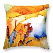 Watercolor .... Tulip Interiors Throw Pillow