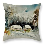 Watercolor 012102 Throw Pillow