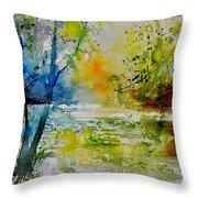 Watercolor 015003 Throw Pillow