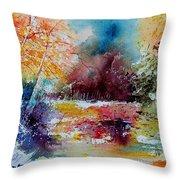 Watercolor 140908 Throw Pillow