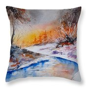 Watercolor 200308 Throw Pillow