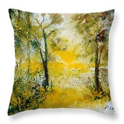 Watercolor 210108 Throw Pillow by Pol Ledent