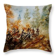 Watercolor  250607 Throw Pillow