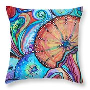 Watercolor #4 Sea Urchins Throw Pillow