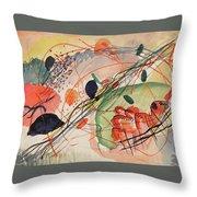 Watercolor 6 Wassily Kandinsky, 1911 Throw Pillow