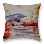 Watercolor Anseremme Throw Pillow