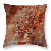 Watercolor Autumn Bunch Throw Pillow