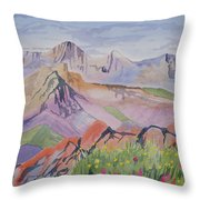 Watercolor - Blanca And Ellingwood Landscape Throw Pillow
