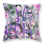 Watercolor - Cherry Blossoms Throw Pillow
