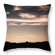 Watercolor Clouds. Throw Pillow