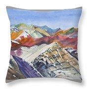 Watercolor - Colorado Elk Range View Throw Pillow