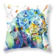 Watercolor Dachshund Throw Pillow