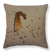 Watercolor Dragon Throw Pillow by Ginny Youngblood