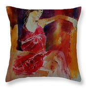 Watercolor Eglantine 1 Throw Pillow
