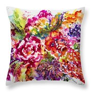 Watercolor Garden IIi Throw Pillow