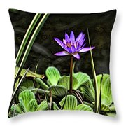 Watercolor Lily Throw Pillow