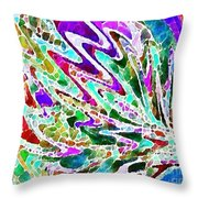 Watercolor My World Throw Pillow