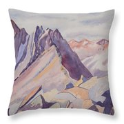 Watercolor - Near The Top Of Mount Sneffels Throw Pillow