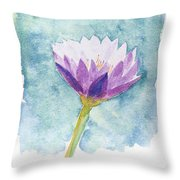 Watercolor Of Lotus Flower. Throw Pillow