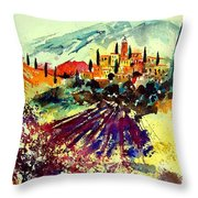 Watercolor  Provence 07 Throw Pillow