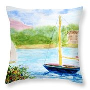Watercolor Sail Throw Pillow