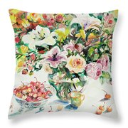 Watercolor Series 1 Throw Pillow