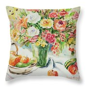 Watercolor Series 11 Throw Pillow