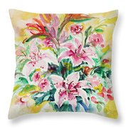 Watercolor Series 141 Throw Pillow