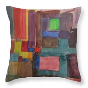 Watercolor Shapes Throw Pillow