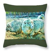 Watercolor Sheep Throw Pillow