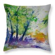 Watercolor Spring 2016 Throw Pillow