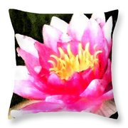 Watercolor Waterlily Throw Pillow