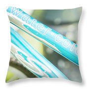 Watercolor Wheels Throw Pillow