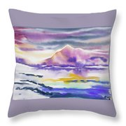 Watercolor - Winter Arctic Impression Throw Pillow